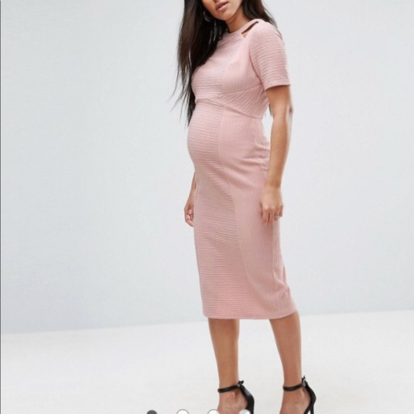 famous brand super cheap great fit ASOS Maternity Dresses | Nwt Pink Nude Dress With Cut Outs | Poshmark